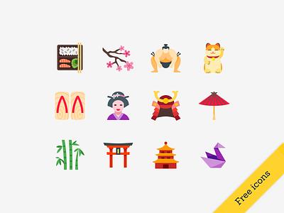 Free Japanese icons freebie japan icons