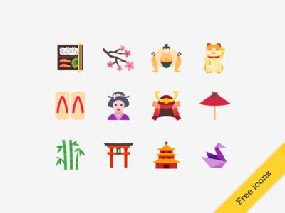 Free Japanese icons