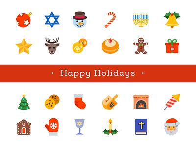 Christmas and Hanukkah icons free icons hanukkah christmas