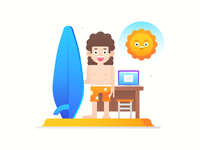 Interface Illustration: Remote Working