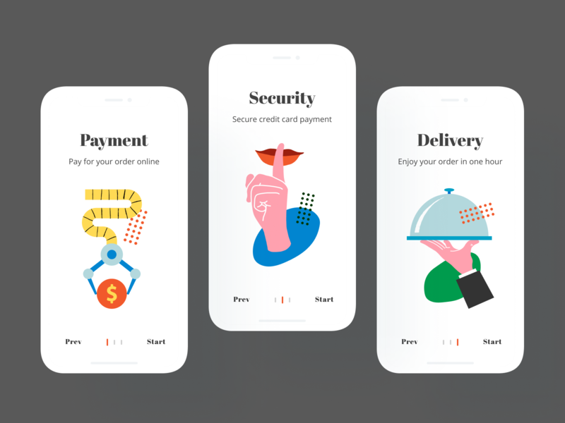 Download Interface Illustrations in Mobile UI