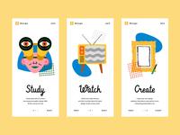 Illustrations for Mobile App Onboarding
