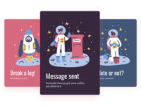 Interface Illustrations for App Messages