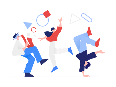 Clip Style: Success Illustration dance app design shapes geometry people character user experience vector ui web design interface illustration illustrator design tools digital art ux vector art flat design illustration graphic design design