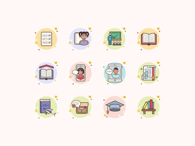 Bubbles Education Icons