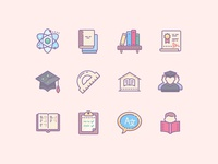 Cute Color Education Icons
