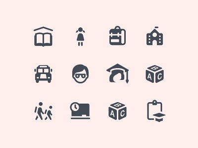iOS Glyph Education Icons ios icon student school glyphs education icon set icon pack icon design icons icon glyph ios user experience ui web design ux vector art flat design graphic design design