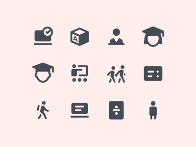 Material Rounded Education Icons