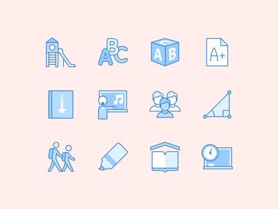 Blue UI Education Icons