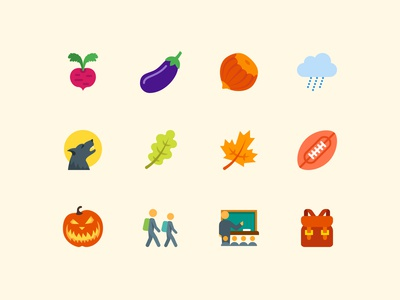 Color Autumn Icons