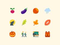 Color Autumn Icons