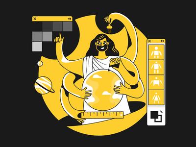 Taxi Illustrations: Design Process