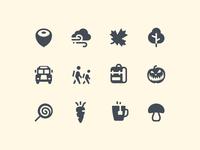 iOS Glyph Autumn Icons