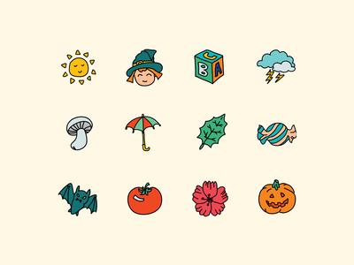 Doodle Autumn Icons