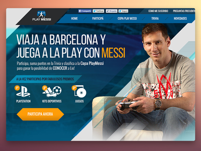 Play Messi contest playstation football soccer ux ui web play messi