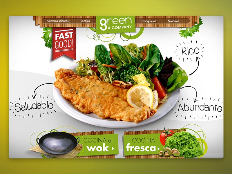Green & Company fast green healthy wok fresh restaurant food