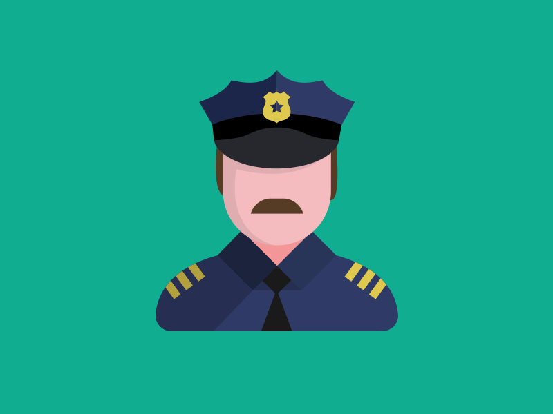 Police flat icon pack man policeman minimal police flat user icons icon