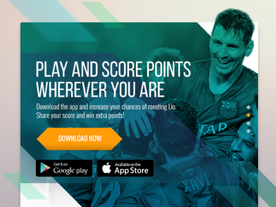 Play Messi - Download App userinterface web liomessi uxui uiux webdesign uiuxdesign ux ui play messi