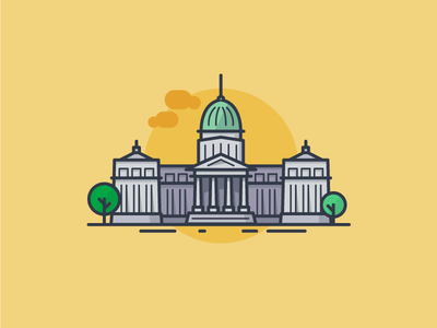 Argentina National Congress Icon buenos aires buildings architecture congress flat lineicons line minimal argentina bsas icondesign icon