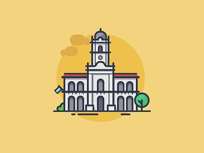 Cabildo de Buenos Aires argentina minimal icondesign bsas lineicons icons cabildo architecture buenos aires