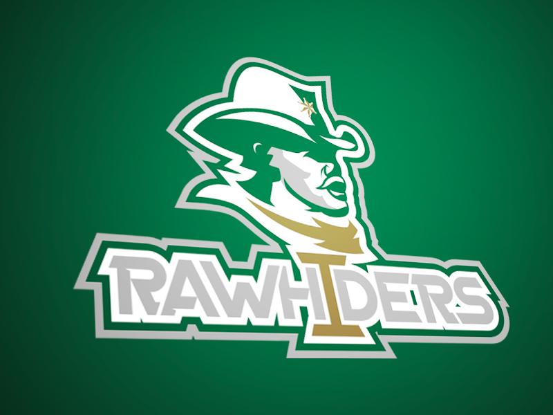Irving Rawhiders cowboys soccer softball basketball typography logo sports football rawhiders irving