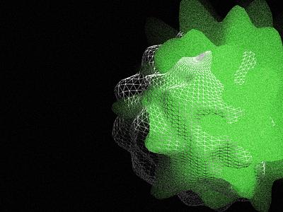 Abstract 3d shape illustration graphic design design
