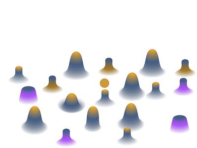 Mountains vector ui illustration graphic design design