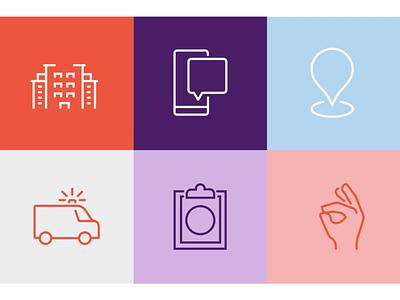 Nora Iconography digital animation icons iconography nacardesign design vector motion graphics graphic design branding