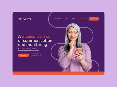 Nora Landing Page ux ui website landing digital nacardesign motion graphics graphic design design branding