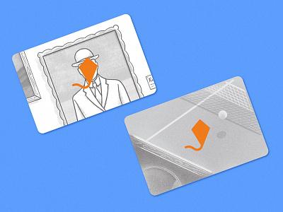 Art & Pingpong art pong ping cards business design illustration rene magritte