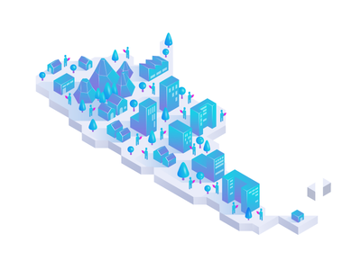 Argentina in 30º country neighborhood buildings people mountains icon illustration design map argentina city isometric