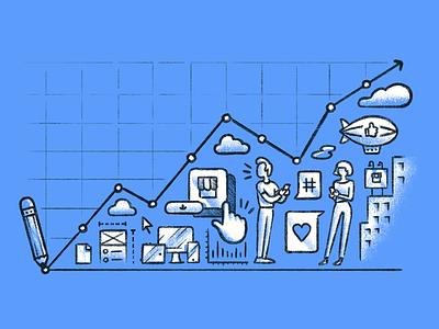 Design Roi 420 marketing illustration editorial growth engagement user app design business kpi roi