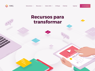 Resources to transform devices digital ui design collaboration tech business resources illustration hero landing