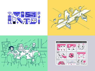 2018 character design character brand identity network cartoon sticker playoff editorial illustration illustration