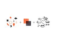 Aerolab's Illustration Style identity agency corporate editorial geometric shapes texture design character style illustration branding brand design brand identity