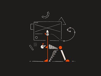 Random features & 404 error 404 404 contact us 420 art ui icon branding design character ui illustration editorial illustration brand design illustration features