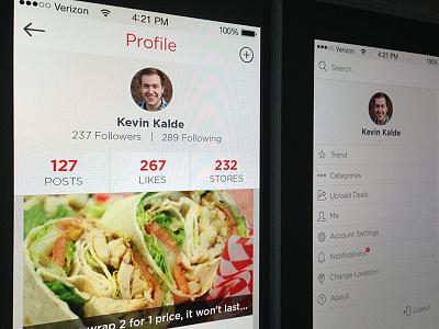 Onsale Local Mobile App profile ui mobile app icon social settings