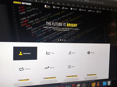 Convex Software Web Design user interface icons branding software web