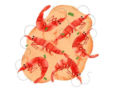 Shrimp Pancake textura tortilla camarones food pancake shrimp