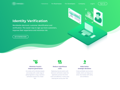 Identity verification and identification data page computer vision machine learning illustration isometric recognition facial blockchain verification identity