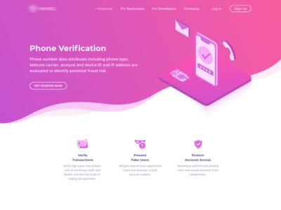 Phone verification page computer vision machine learning phone verification verify illustration isometric blockchain verification identity