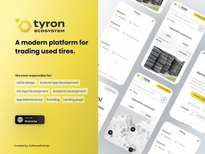 Tyron - platform for trading used tires uiux development product design platform
