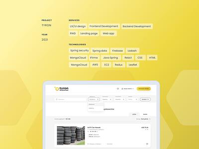 Tyron - platform branding uiux development product design ux ui