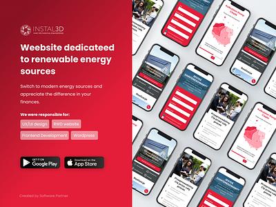 Instal3D - website ux wordpress react landing page website design ui uiux development product design web graphic design