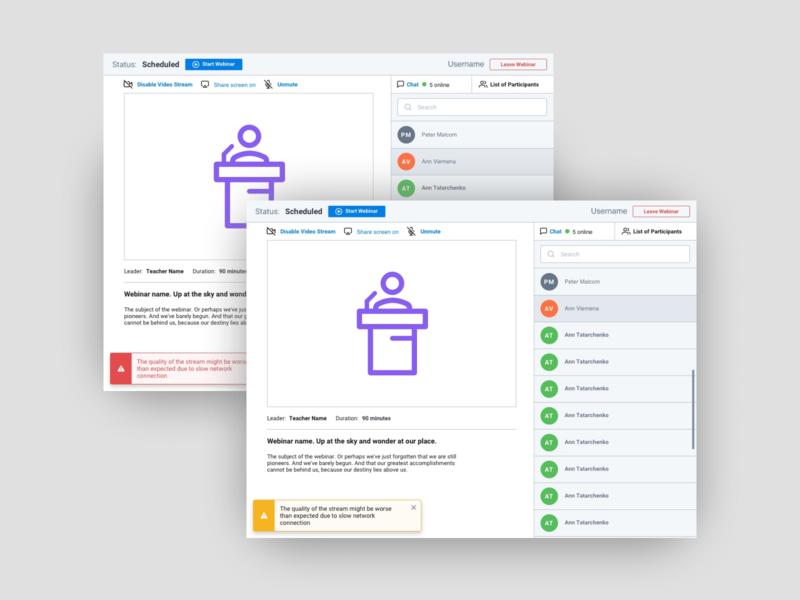 Webinar UI web interface design ux ui icon webdesign webinar
