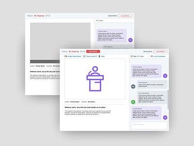 Webinar UI webdesign ux ui web design webinar web