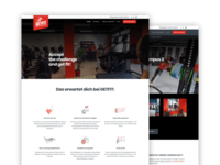 Fitness Club Website wordpress development wordpress design wordpress webdesign website ui ux design