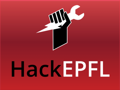 HackEPFL - Final Artwork fist hack epfl hackepfl logo
