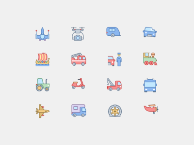New Transport Icons in Office Style
