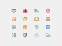 E-commerce Icons in Office Style